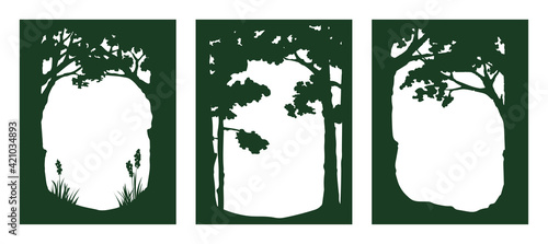 Photo Forest - graphic vector illustration