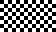 Black And White Checkered Background, Chess Game Pattetn Board. Vector Illustration