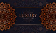 Luxury Mandala Background With Arabesque Pattern Arabic Islamic East For Book Cover, Elegant Background Circular Pattern In Form Of Mandala With  Flower For Henna, Mehndi, Tattoo, Decoration