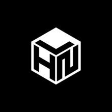 HNL Letter Logo Design With Black Background In Illustrator, Cube Logo, Vector Logo, Modern Alphabet Font Overlap Style. Calligraphy Designs For Logo, Poster, Invitation, Etc.