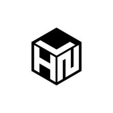 HNL Letter Logo Design With White Background In Illustrator, Cube Logo, Vector Logo, Modern Alphabet Font Overlap Style. Calligraphy Designs For Logo, Poster, Invitation, Etc.