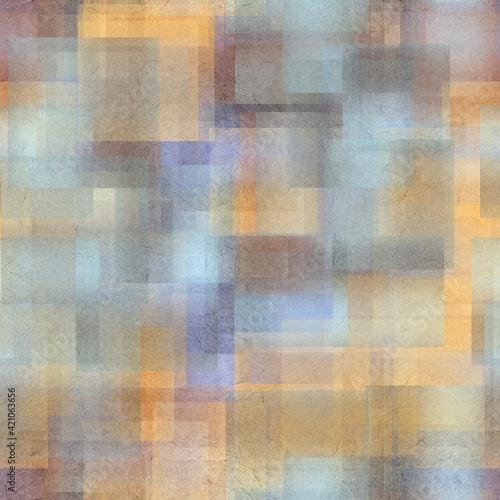 Photo Seamless overlaid geometric shape pattern print