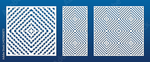Foto Decorative panels for laser cutting