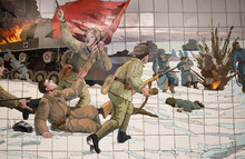 Panel Of The Great Patriotic War Of Ceramic Tiles In The Underpass (fragment)