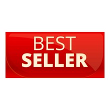 Best Seller Red Banner Icon. Cartoon Of Best Seller Red Banner Vector Icon For Web Design Isolated On White Background