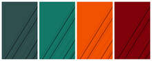 Monochrome Background Set 2 With Tidewater Green And Orange Color Schemes As Well As Diagonal Shadowed Paper Cutout Structure For Even More Than Ebook And Book Cover Design