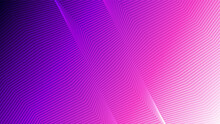Abstract Gradient Background With Futuristic Geometric Lines. Vector Modern Background For Technology, Business, Finance. Pink And Purple Gradient Background
