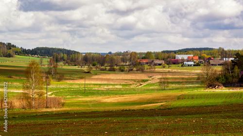 Wzgórza Sokólskie wiosną, Podlasie, Polska