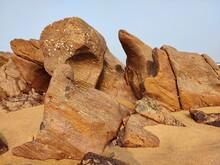 Look Like Elephant Rocks In The Sand Visakhapatnam Beach Vizag