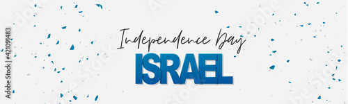 Fényképezés Israel Independence Day simple banner or site header