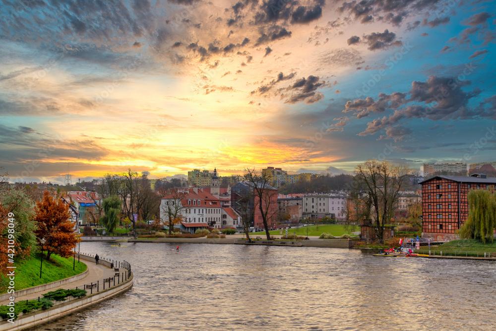 Obraz Historic city center of Bydgoszcz, Poland.  fototapeta, plakat