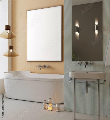 Maquette de mur de salle de bain moderne Fototapeta