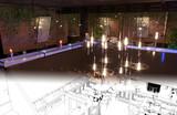 bar counter in a nightclub, interior visualization, 3D illustration