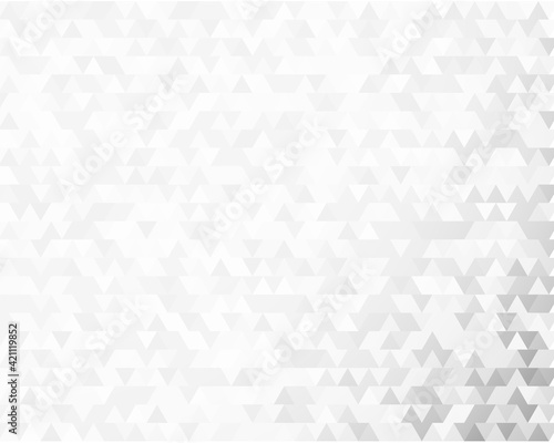 Modern triangles gray gradient background. Geometric mosaic style with random color saturation with imposition transparency for place message. Vector illustration EPS 10 for presentation template