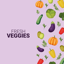 Fresh Veggies Lettering