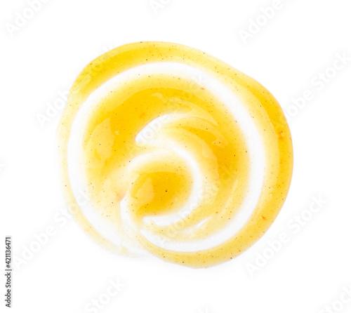 Fototapeta Tasty mango sauce on white background obraz na płótnie