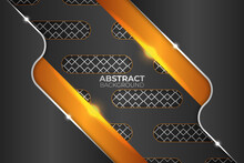 Premium Abstract Diagonal Orange Metallic Background
