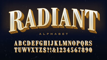 Radiant Alphabet; A Traditional Serif Capitals Font With Extravagant Linear Detailing In Each Letter.