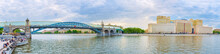 Panorama Of Moskva River Embankment, Moscow