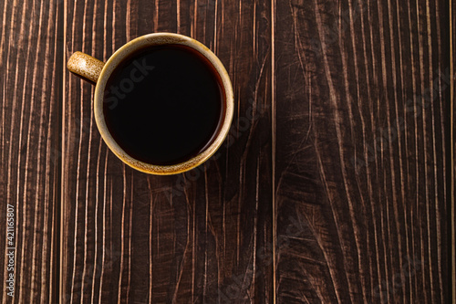 Canvas Print Love drinking coffee, coffee cups are on the table