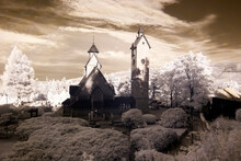 The Historic Temple Of Wang. Infrared Photo.