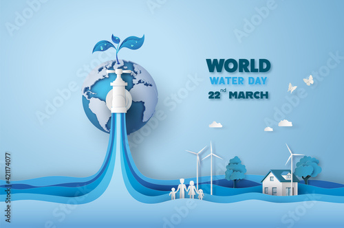 Foto concept of ecology and world water day .