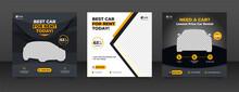 Car Rental Promotion Social Media Post Banner Template