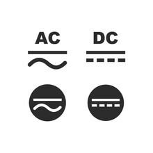 Ac-dc Current Symbol Icon Vector Illustration Design Template