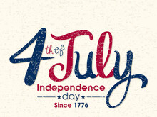 Illustration Of Independence Day Of United States Of America,4 July.