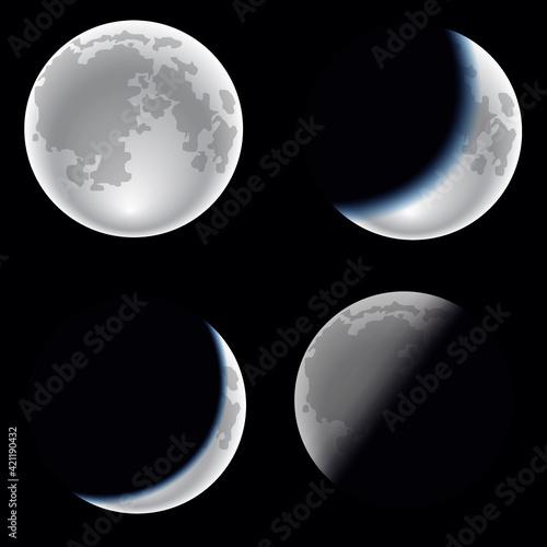Vászonkép Moon phases
