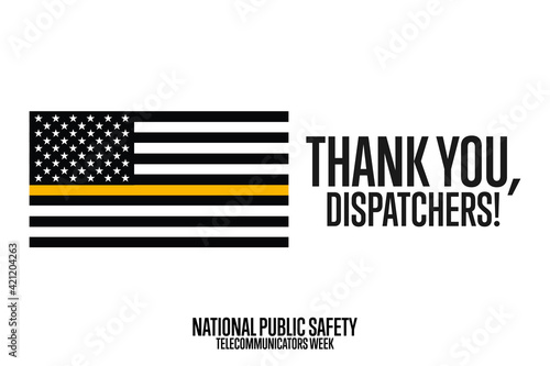 National Public Safety Telecommunicators Week Fototapet