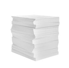 Stack Of Paper Sheets Isolated On White
