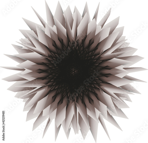 Abstract chrysanthemum flower for the design of banners, posters, websites, textiles Fotobehang