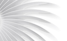 Abstract Wallpaper With White Monochrome 3d Illustration Od Radial Volume Lines Forming Shape From The Center To The Edges
