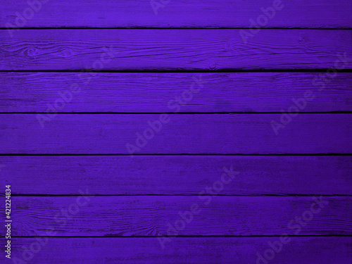 Obraz na plátně Background violet wooden planks board texture.