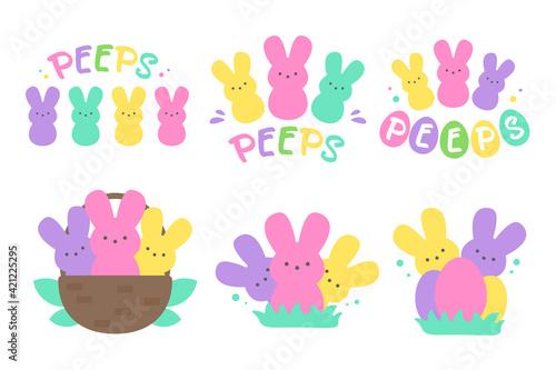 Fotografie, Obraz Easter Peeps