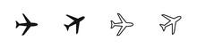 Airplane Icon Set. Vector Aeroplane Symbol Collection.