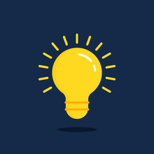 Quick Tip Icon With Yellow Light Bulb