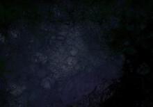 Grunge Dark Goth Wallpaper, Black Old Distressed Background Shiny In The Center