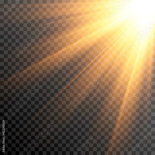 Obraz na płótnie Golden light