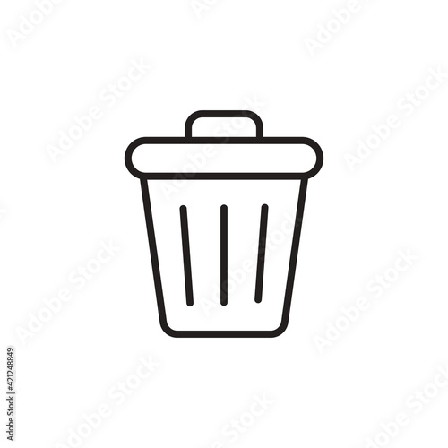 Fototapety, obrazy: Trash icon in vector. Logotype