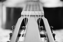Details Of An Old Spanish Guitar And Its Strings. Juan Lacaze, Colonia, Uruguay