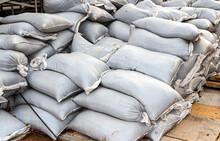 Sandbags For Flood Defense Or Military Use