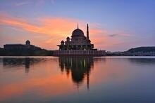 Putrajaya Mosque Sunrise Reflections