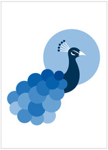 Abstract Illustration Of A Blue Bird