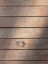 Top Down View Of Wood Decking