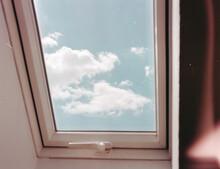 Reflection Of Sky On Window Glass
