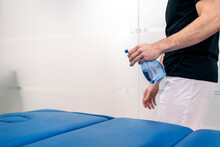 Disinfecting Stretcher In Clinic