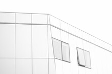 Minimalistic Shot Of Building With Windows In Black And White