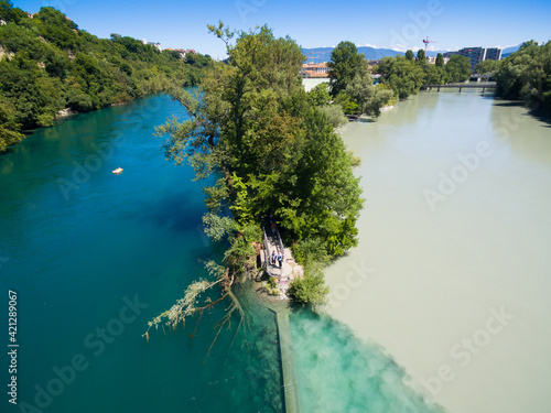 High Angle View Of Rivers Against Sky